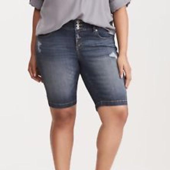 4f419808a8 torrid Shorts | Premium Stretch Jegging Bermuda | Poshmark